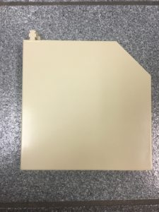 End plate for roller shutter