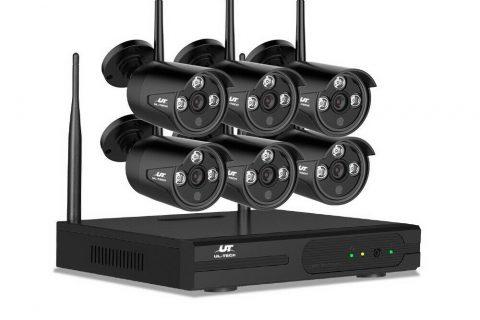 8 channel 6 wireless cameras ul-tech