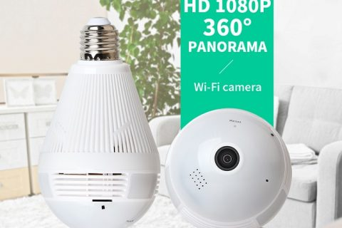 Light bulb security camera
